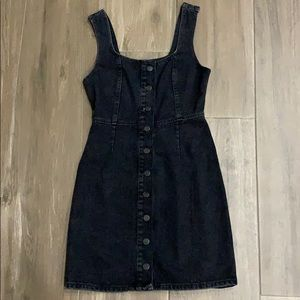 Urban outfitters black denim dress